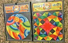 1969 MATTEL Brain Drain Profound Round & Block Shock PSYCHEDELIC Puzzles