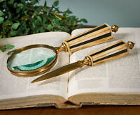 "DESK SETS - ""SOUTHAMPTON"" LETTER OPENER & MAGNIFYING GLASS DESK SET"