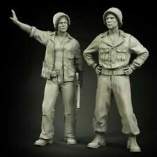 1/35 Resin Figure Model Kit US Soldiers Tank Crew WWII WW2 Unpainted Unassembled