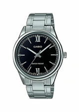 Casio MTP-V005D-1B2 Men's Standard Stainless Steel Roman Black Dial Analog Watch