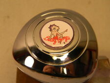 BETTY BOOP STEERING WHEEL SPINNER KNOB   ONLY FITS NEW VEHICLES PADDED WHEELS