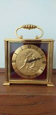 IMHOF bucherer revolving Swiss carriage mantel clock in excellent condition.