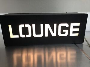 Vintage Lounge Electric Light Sign Black White Man Cave Bar Decor