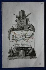 Original antique map SCOTLAND, STIRLING, DUMBARTON, EDINBURGH, Perrot, 1823