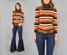 Vintage 70's Striped Turtleneck Sweater
