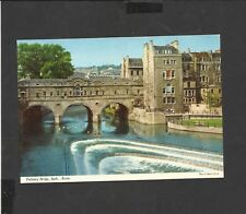 Vintage John Hinde postcard Pulteney Bridge Bath Avon  unposted