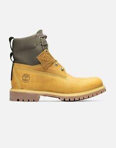 Men's Timberland 6-Inch Waterproof Rebotl Fabric Boots: Wheat/Green - Sz 12