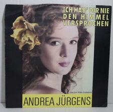 """ANDREA JÜRGENS - Ich hab dir nie den Himmel versprochen : 7"""" Single, white 1990"""