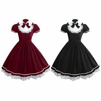 Women Lady Classic Cosplay Princess Maid Costume Halloween Anime Party Dress up