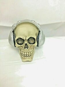 Dead Beat Skulls wearing headphones Darkest Desires