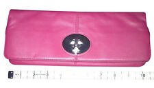 Authentic Coach Madeline Leather Foldover Clutch Turnlock Purse 13580 - RARE