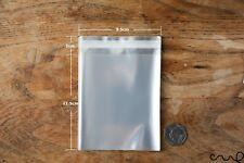 50 x Clear Cellophane OPP Bag Self Adhesive Display Peel & Seal Approx.9x14cm