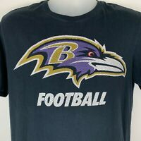 Baltimore Ravens Large T Shirt NFL Football Nike Athletic Cut Black Graphic Tee