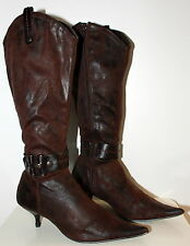 Vintart brown western tall boots women Eur 37 US 6.5 UK 4.5 Used from Italy