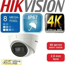 HIKVISION 4K 8MP CCTV TURRET DOME CAMERA 2.8MM EXIR NIGHT VISION DS-2CE78U1T-IT3