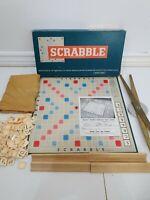 Vintage 1955 Scrabble Board Game Spears Games 100% Complete Metal Turntable