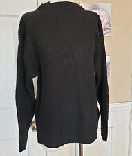 Equipment Femme - Bay Sweater - Pullover Black Cashmere Wool Blend Size Medium