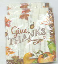 Give Thanks Pumpkin Thanksgiving Napkins - 108 Count- 3 Ply