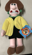 WENDOLENE PLUSH DOLL from Wallace & Grommit 14 inches Yellow Sweater 1989 NWT