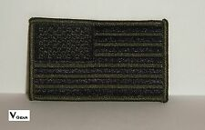 US USA American Flag patch SUBDUED OLIVE GREEN and BLACK **BUY 2 GET 1 FREE**