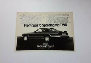 TWR Jaguar Sport XJ-S Advert from 1985 - Original Ad Advertisement XJS