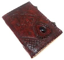 Firu Leather Diary - Dragon Handmade Paper Engraved Brown Leather Bound Journal