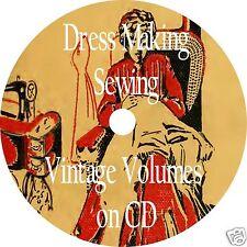 DRESSMAKING 36 Old Books CD Sewing Needlework Making Clothes Tailoring Garment