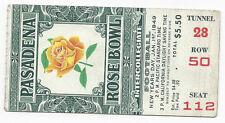 1949 Rose Bowl football ticket stub Northwestern Wildcats v California Bears EX