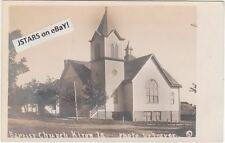 c. 1910 KIRON, IA, BAPTIST CHURCH POSTCARD RPPC
