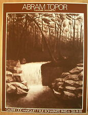 * Superbe affiche lithographie Signée Abram Topor Galerie Marquet 1975 Poster