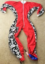 Skydive Jumpsuit- Big Guy Freefly Suit- Red & Black and White Hawaiian
