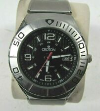 Mens CROTON CA301237 5ATM Stainless Steel Wrist Watch
