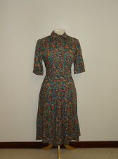 LIBERTY - GORGEOUS Vintage FLORAL COTTON DRESS - Size 14 - LOVELY