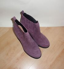 NEW Clarks womens MALM JIVE suede pull on ankle boots size 6