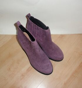NEW Clarks womens MALM JIVE suede pull on ankle boots size UK 6