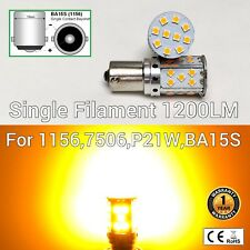 Front Signal Light 1156 BA15S 7506 3497 P21W 35 SMD Amber LED Bulb M1 MAR