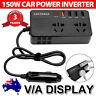 Car Power Inverter 12V to 220V Converter 150W inverter 4 USB AC 220V Power plug