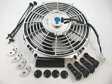 "14"" Chrome S-Blade Electric Radiator Cooling Fan Universal w/ Mounting 1750 CFM"