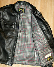 Aero Board Racer sz 40 Black Vicenza Horsehide Leather Jacket, Buco J-100 Style