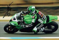 Fabien FORET SIGNED Autograph Kawasaki Motorbike Rider 12x8 Photo AFTAL COA