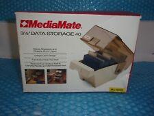 "3.5"" Floppy Disk Storage Case Holder Organizer ~ Holds 40 Disks - MediaMate New"
