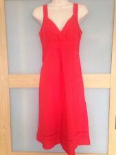 Dorothy Perkins Womens Red Linen Dress Size 8