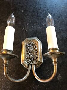 Fantastic Designed Silver Plated Cast Solid Brass Double Wall Sconce