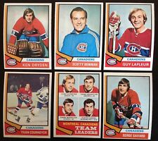 1974-75 Topps Montreal Canadiens Team Set (12) EXMT+ 1974 inc Ken Dryden Bowman