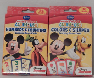 Flash Card Numbers Counting Colors Shapes 2 Pack Disney Mickey Mouse Clubhouse