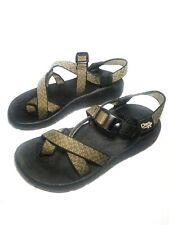 CHACO Women's SPORT SANDALS VIBRAM SOLES Size 8 Toe Loop Geometric Design Z2 Z/2