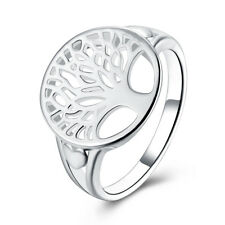 925 Silver tree Life ring jewelry wedding women cute nice size 6-9 solid fashion