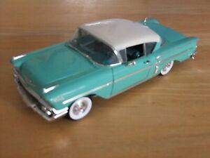 Ertl 1958 Chevrolet Impala 1/18 Scale Turquoise / White - UNBOXED