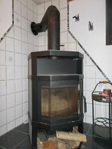 Kaminofen Esbjierg 105 Solo Speckstein 8 Kw Vorne Glastür Strahlungsbereich.