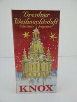 24 German Knox Dresden Incense Cones Gingerbread Pine Myrhh Cinnamon Vanilla